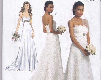 B5325 Butterick Wedding Dress Sewing Pattern Sizes 6-8-10-12