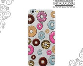 White or Clear TPU Case Back Cover Protection for iPhone and Galaxy Devices - Yummy Doughnuts UV0147