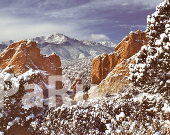 "13""by19"" Fine Art Print of New Snow in the Garden of the Gods - Colorado, USA"