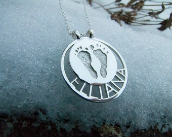 baby footprint necklace actual baby footprint necklace custom footprint babies actual footprint birth certificate necklace loss of baby