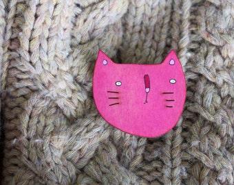 Kitty Brooch - Pink