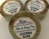 Aloe & Green Tea Loofah Soap