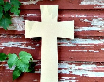 Unfinished MDF Wooden Cross #10