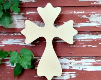 Unfinished MDF Wooden Cross #52