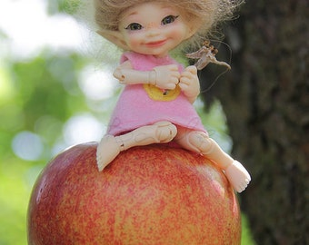PREORDER!! Different color felt dress for Realpuki bjd doll outfit tiny pink yellow lilac