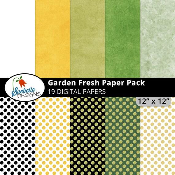 Garden Fresh Digital Paper Pack (Digital Scrapbooking Paper Backgrounds)