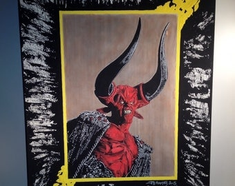 """LEGEND   Ridley Scott   Hand Painted   Acrylic Painting on Stretched Canvas  16"""" x 20"""""""