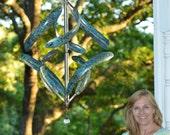 BreezeWay Morning Glory Copper Kinetic Wind Sculpture