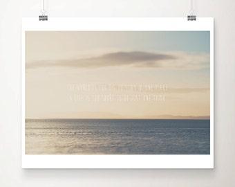 ocean photograph inspiration print travel photography ocean print coastal print anglesey photograph typography print