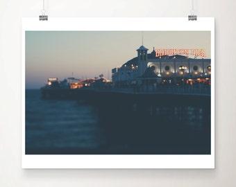 brighton photograph brighton pier photograph travel photography english decor england print ocean photograph coastal print