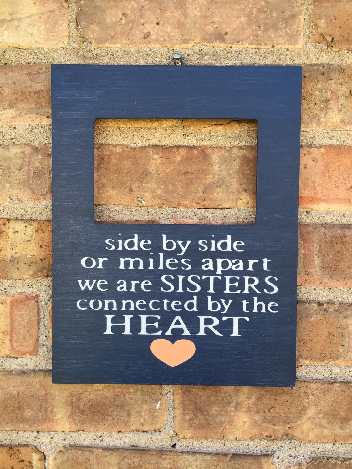 Custom Sister Quote Picture Frame Long Distance Sister Gift