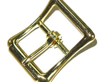 """Strap Buckle .75"""" (1.9 cm) Brass Plated 1545-00"""