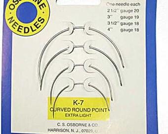 Osborne K-7 Curved Needle Pack for Upholstery Repair