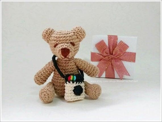 Mini Teddy bear crochet amigurumi or miniature dolls