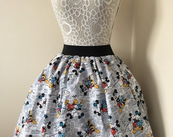 Disney Mickey and Minnie Mouse full skirt