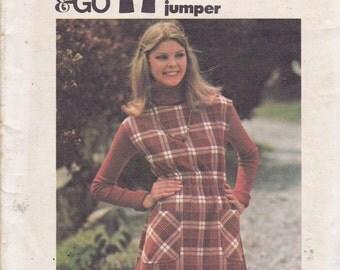 Butterick 4382 Vintage Pattern Womens A Line Jumper Size 6 UNCUT