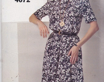 See and Sew 4072 Vintage Pattern Womens Pull Over Dress Size 6,8,10 12,14 UNCUT