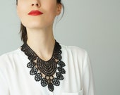 40%OFF Off Black Necklace Venise Lace Necklace Lace Jewelry Bib Necklace Statement Necklace Body Jewelry Gift/ GERBOLINA