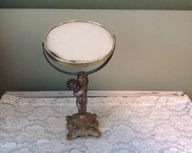 Popular items for mirror antique on etsy for Gold stand up mirror