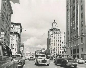 St. Petersubrg Florida downtown view vintage photo