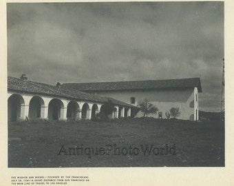 San Miguel Mission San Francisco California antique photo