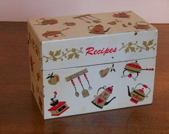 Vintage Kitchen Items Recipe Box / Recipe Box (Ohio Art)