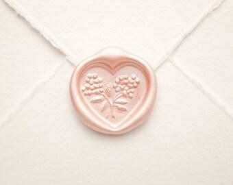 Heart Wax Seal, wedding seal, Vintage Shabby Elegance Wedding Invitation Seals, Romantic Envelope Sticker, Heart Decal for Love Scrapbook
