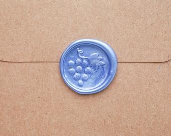 Grape Wax seal stamp Sticker, Peel and Stick Wax Seal, Scrapbook Decals, DIY Grape Jewelry, Wine Lover Wedding or Birthday Invitations