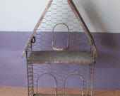 Rustic wire house / fence house / decorator wire house / bird house / plant house / garden house