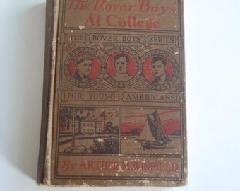 Antique Book, The Rover Boys at College