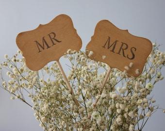 MR and MRS Cake Topper / Decor sign