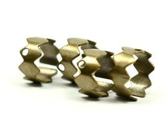 40 Pieces Antique Brass Ear Cuff Findings - 10 mm Diameter , Width 5 mm