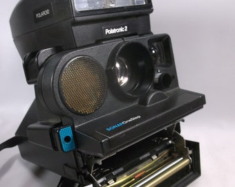 Polaroid  Camera Vintage Pronto One Step Sonar Land Camera SE Black With Polatronic 2 flash .Not Tested epsteam