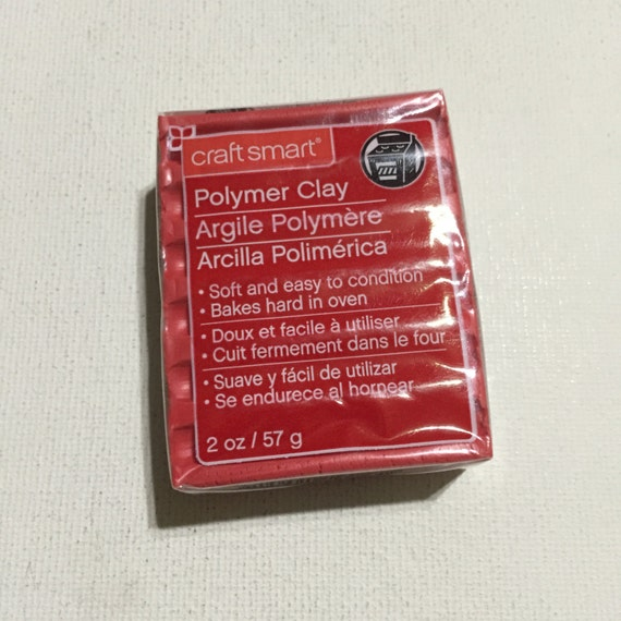 Craft smart polymer clay 1905 red 2oz single block for Craft smart polymer clay