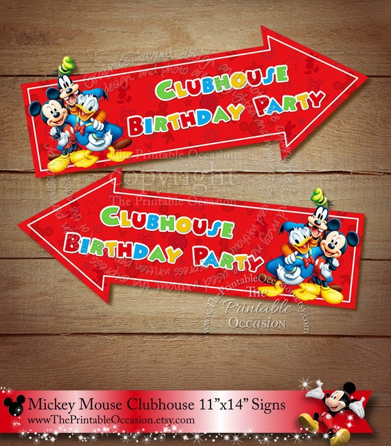 11x14 Mickey Mouse Clubhouse Party Sign By