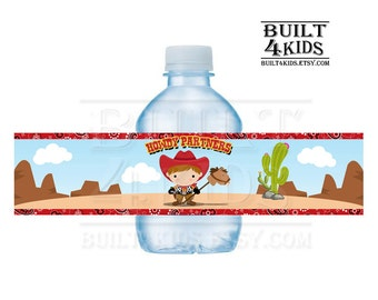 Lil Cowboy Water bottle labels/ digital/ instant download/ wrappers