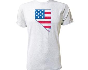 Nevada American Flag - NLA Heather White