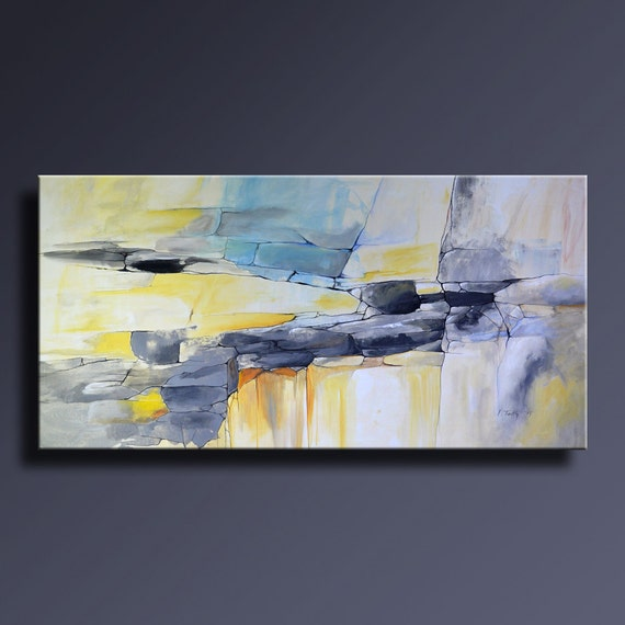 fr listing  large original jaune gris bleu
