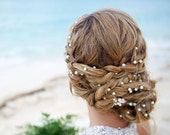 Wedding Pearl Head Chain, Bridal Headband, Pearl Headband, Wedding Hair Accessories, Bridal Hair Accessories