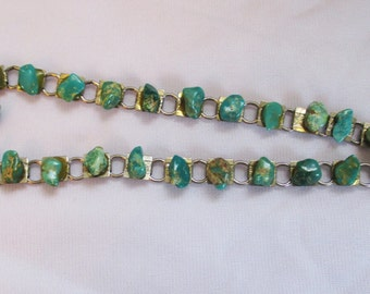 Vintage, Retro Turquoise Necklace  from Roadside Store - Estate find!