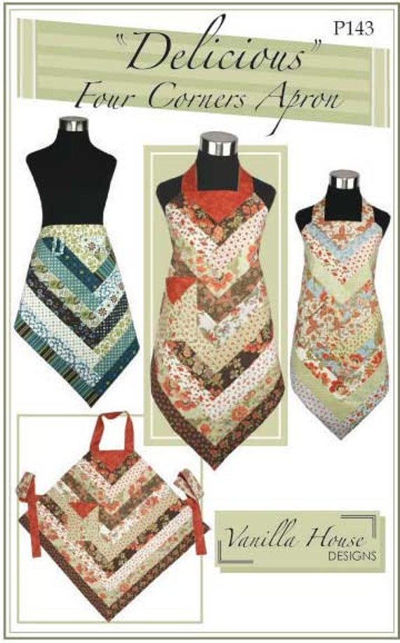 Jelly Rolls Aprons Sewing Pattern Delicious Four Corners