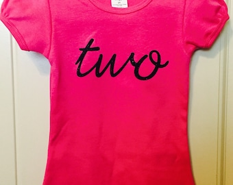 Toddler birthday number shirt