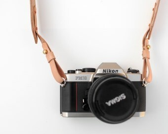 Leather Camera Strap - Natural