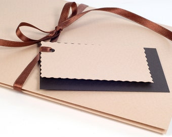 CD/DVD Sleeves with leporello Light Brown