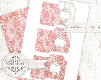 Seed pocket template. Digital collage sheet. Instant download.