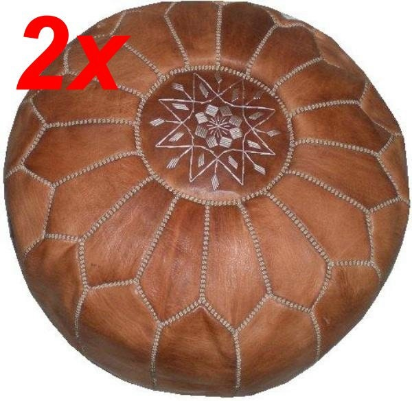 Leather Floor Pillows Cushions : 2x Oriental leather seat cushions floor cushion stool cushions Orient Pouf ? Haute Juice