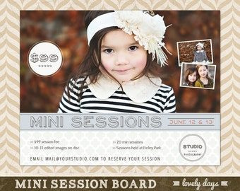 Photography Mini Session Template Board Flyer Ad for Photographers INSTANT DOWNLOAD