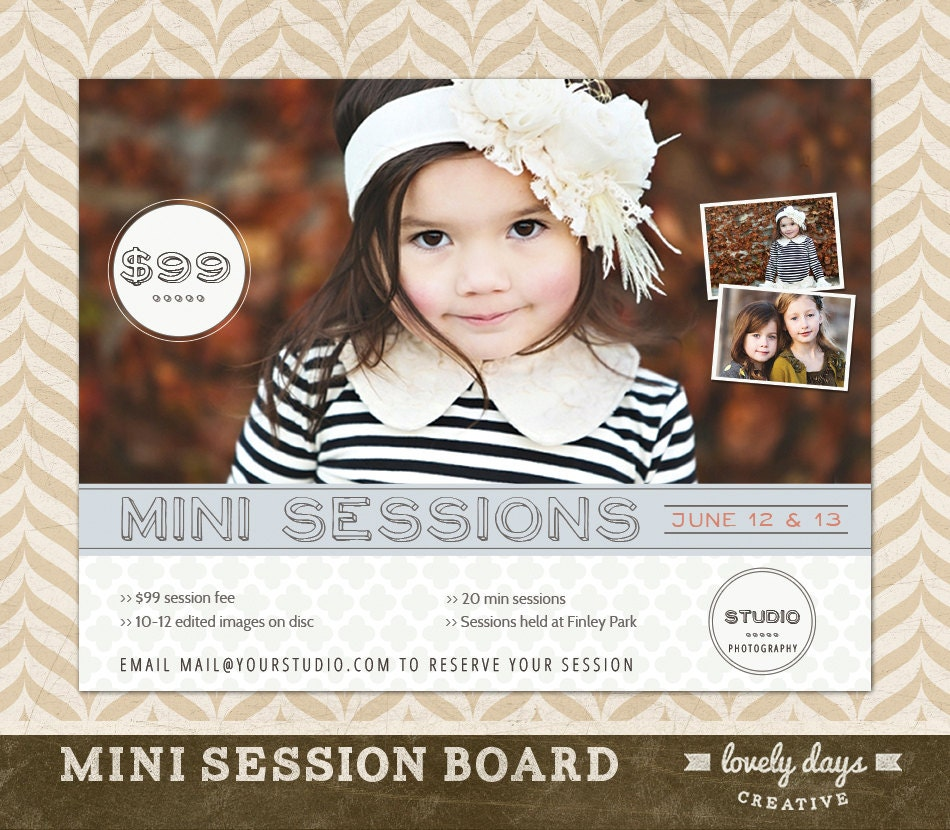 photography mini session template board flyer ad for