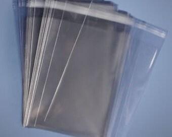 100 10 x 13 Clear Resealable Cello Bag 1.6 Mil Plastic Envelopes Cellophane Bag
