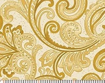 Chickadees & Berries - Cream/Gold Golden Scroll w/Metallic 4746MB-33